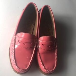 Bass weejuns pink salmon penny loafers Sz 6M
